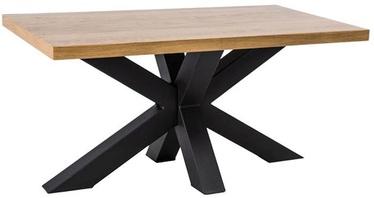 Kafijas galdiņš Signal Meble Lawa Cross Oak/Black, 1100x530x600 mm