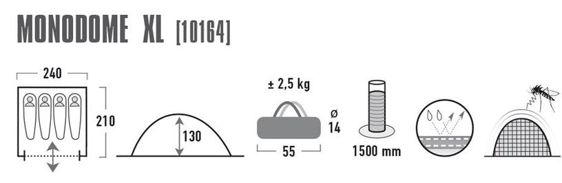 Telts High Peak Monodome 4 10164
