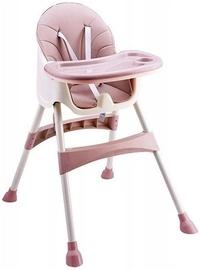 Barošanas krēsls EcoToys 2in1 Pink, rozā/smilškrāsas