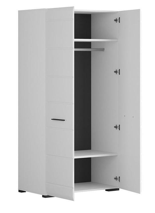 Skapis Black Red White Fever SZF2D White/Glossy White, 100x55x200 cm