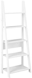 Songmics 5 Tier Ladder Shelf White 60x34.7x147.5cm