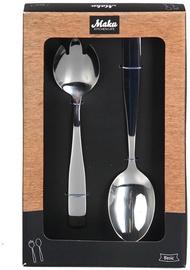 Maku Basic Serving Spoon Set Steel 2Pcs 010536