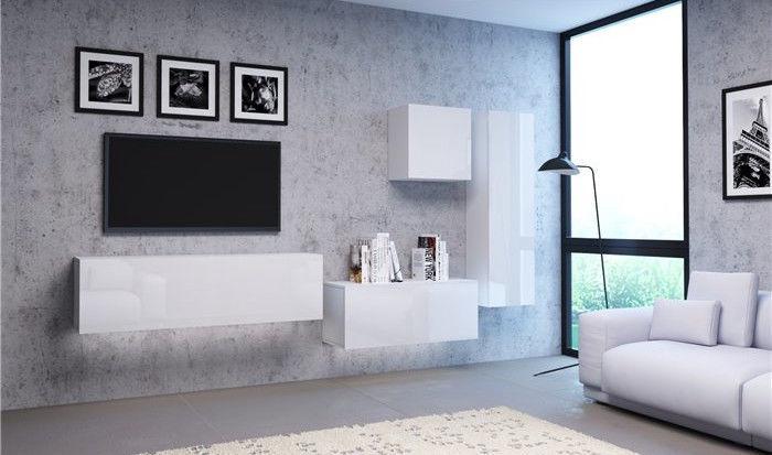 Vivaldi Meble Vivo 03 Wall Shelf White/White Gloss