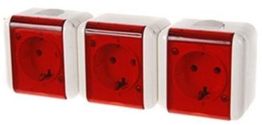 REML 229305400 Triple Socket Red