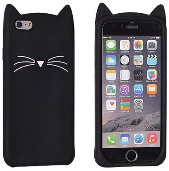 Forcell 3D Cat Back Case For Apple iPhone 6/6s Black
