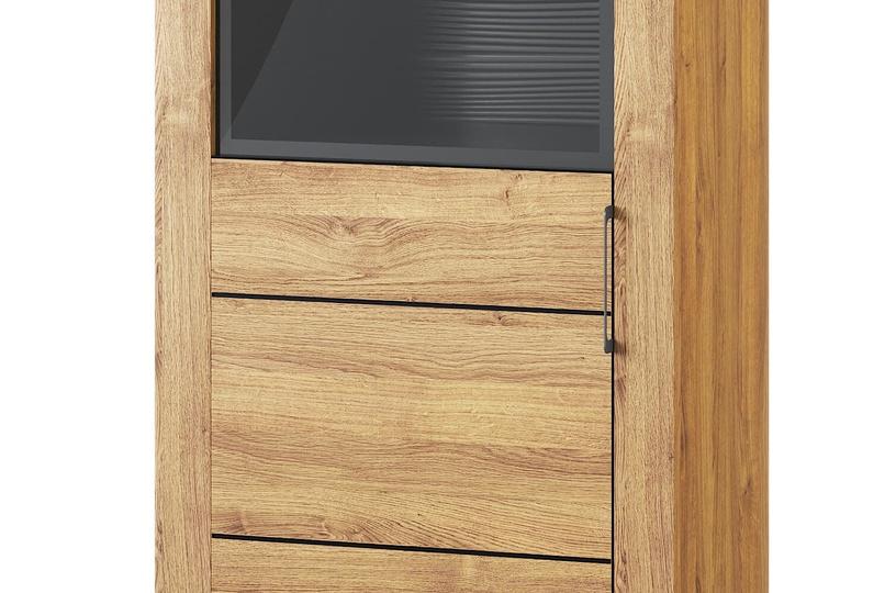 Szynaka Meble Kama 10 Display Unit Camargue Oak/Black Matt