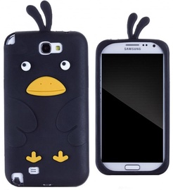 Zooky Soft 3D Cover Samsung N7100 Galaxy Note 2 Chicken Design Black