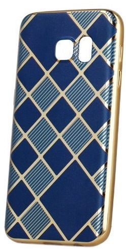 Mocco Geometric Plating Back Case For Apple iPhone 7/8 Blue/Gold