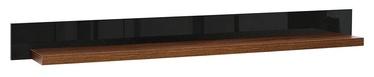 Black Red White Arosa Wall Shelf Black/Brown Oak