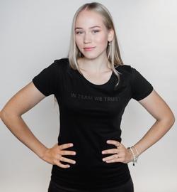 T-krekls Dinamo Rīga Women T-Shirt Black XS
