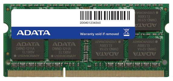 Operatīvā atmiņa (RAM) ADATA ADDS1600W8G11-S DDR3 (SO-DIMM) 8 GB CL11 1600 MHz