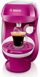 Kapsulas kafijas automāts Bosch TAS1001, balta/rozā