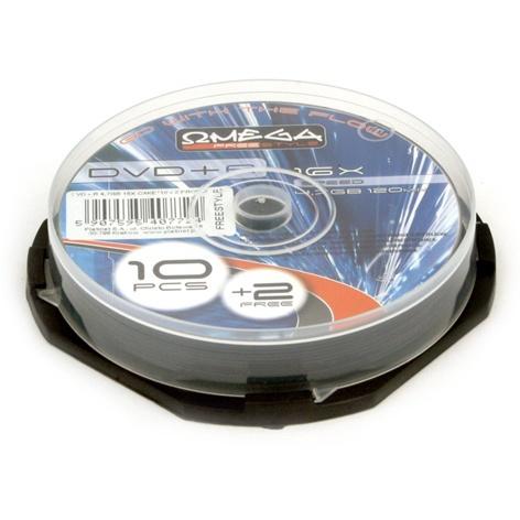KOMPAKTDISKS CD-R, 700 MB, 52X OFC12 CAKE 10+2 PROMO (OMEGA)