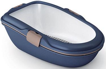 Кошачий туалет Zolux Furba Chic Maxi, синий, 695x470x260 мм