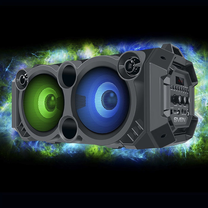 Bezvadu skaļrunis Sven PS-550, melna, 36 W