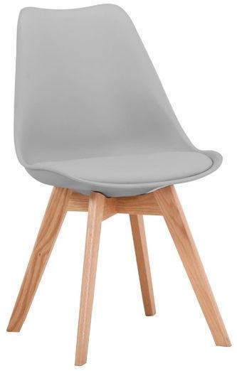 Ēdamistabas krēsls Signal Meble Kris Oak Light Grey, 1 gab.