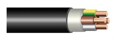 KABELIS 4X6.0 CYKY-J (VVG) 100M MELNS