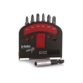 Набор бит для шуруповерта (6 бит, магнитный держатель) FELO