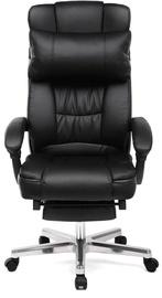 Biroja krēsls Songmics Office Chair Office Chair With Footrest, melna