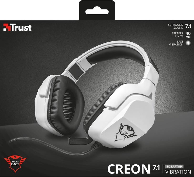 Spēļu austiņas Trust GXT 354 Creon White