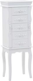 Столик-косметичка VLX Free Standing Jewelery Cabinet 246959, белый, 26x34x94 см, с зеркалом