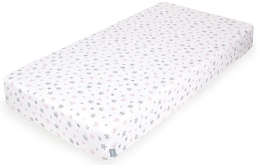Palags Ceba Baby Jersey Fitted Sheet, rozā