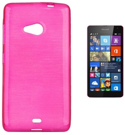 Forcell Jelly Brush Back Case For Microsoft 535 Lumia Pink
