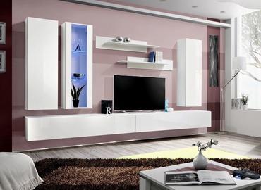 Dzīvojamās istabas mēbeļu komplekts ASM Fly E, balta