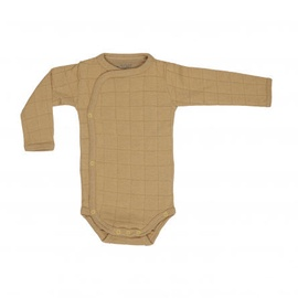 Lodger Romper Solid Body With Long Sleeves Honey 68cm