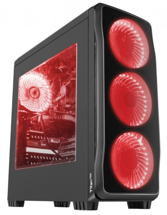 Natec Titan 750 Midi Tower Black/Red