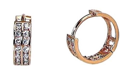 Diamond Sky Gold Earrings Confetti XIV