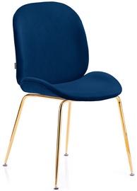 Ēdamistabas krēsls Homede Florin Navy Blue, 2 gab.