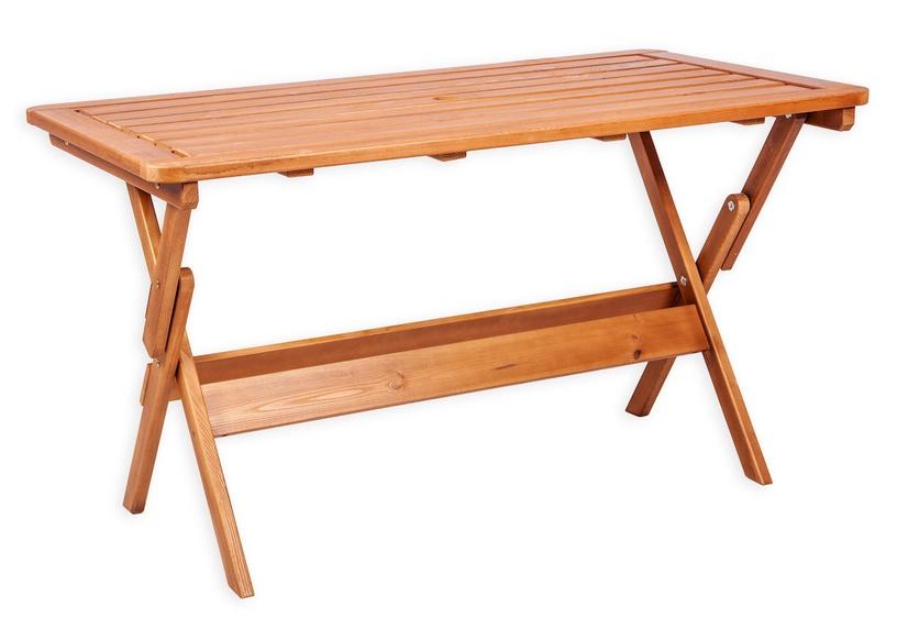 Dārza galds Folkland Timber Heini-4 Brown, 130 x 70 x 73 cm