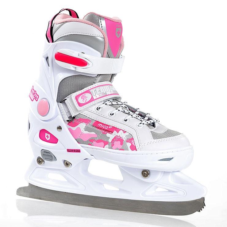 Skrituļslidas Mico Plus Princess 2in1 White/Pink, 33-36