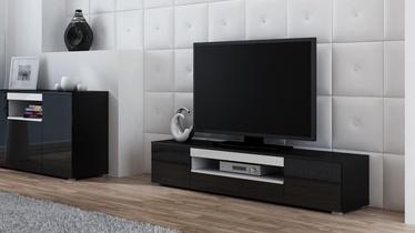ТВ стол Cama Meble Viva 180, белый/черный, 1800x400x374 мм