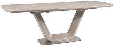 Pusdienu galds Signal Meble Armani Grey, 1600x750x900 mm