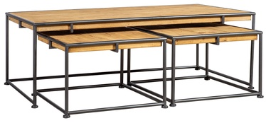 Kafijas galdiņš Home4you Ferro Black/Brown, 1200x600x400 mm