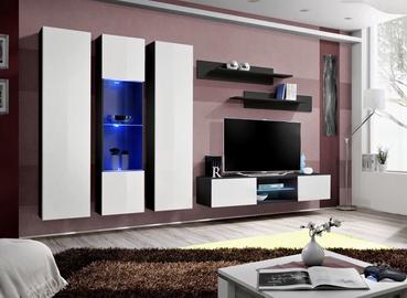Dzīvojamās istabas mēbeļu komplekts ASM Fly P5 White/Black