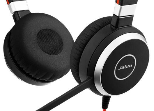 Наушники Jabra Evolve 40 Duo MS, черный/oранжевый