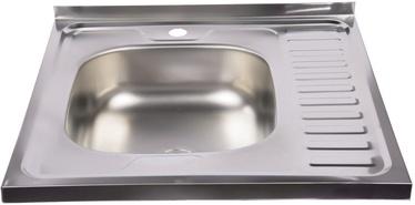 Diana Kitchen Sink Left Chrome 600x600mm