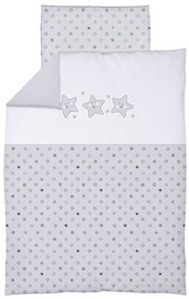 Ceba Baby Bedding Set With Embroideries 2pcs Stars Grey