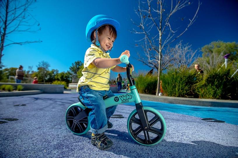 Балансирующий велосипед YVolution YVelo Junior 101049, синий, 9″