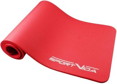 SportVida NBR Thicker Exercise Fitness & Yoga Mat Red