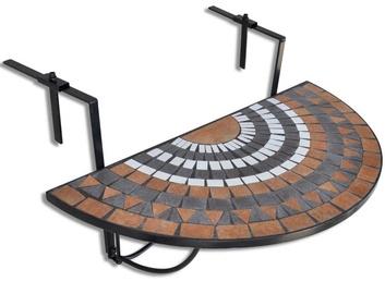 Садовый стол VLX Balcony 41126, коричневый/белый/черный, 760 x 560 x 640 см