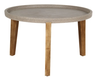 Dārza galds Home4you Sandstone Grey/Brown, 73 x 73 x 45.5 cm
