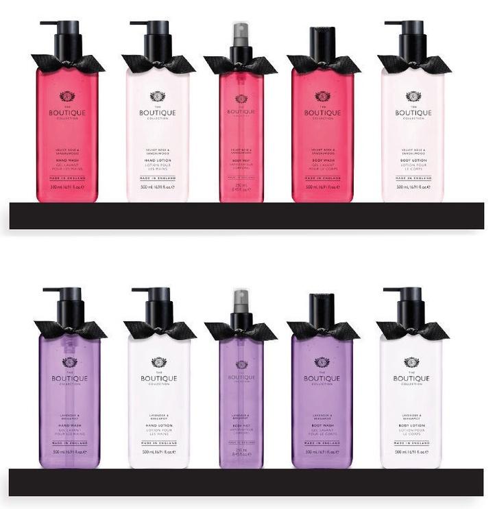 The English Bathing Company Boutique Mistletoe Kisses 500ml Body Wash + 500ml Body Lotion