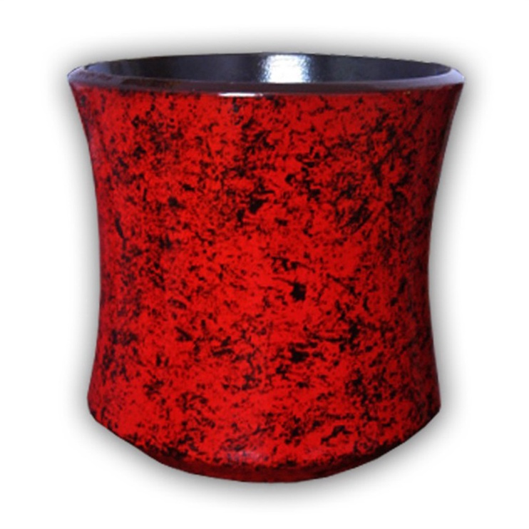 Askovita Ceramic Flower Pot With Saucer Vipa-6 D25cm Red