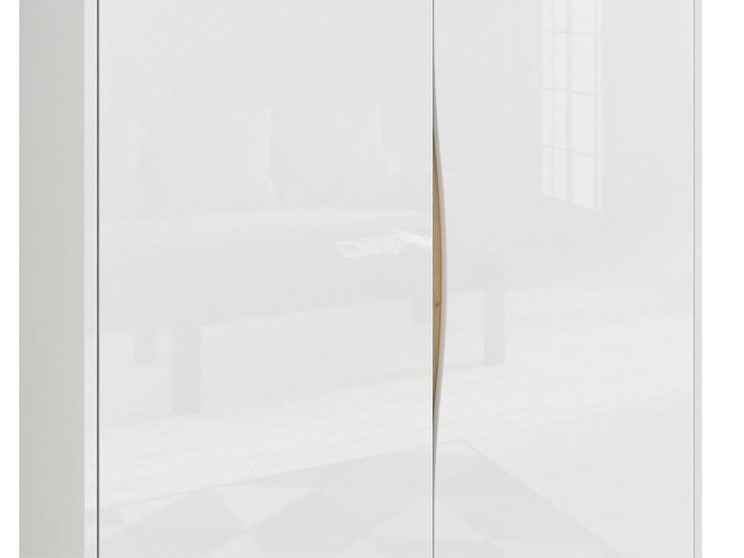 Skapis Black Red White Pori White, 100x60x200.5 cm