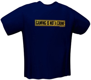 GamersWear Not A Crime T-Shirt Navy L