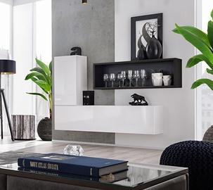 ASM Blox SB IV Hanging Cabinet Set White/Black